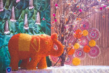 Photo of Genda phool elephant prop for mehendi