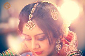 bridal getting ready shot