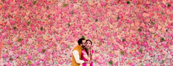 Floral wall photobooth for mehendi
