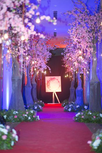 Photo of wedding entrance decor