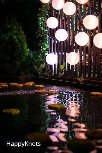 hanging glow balls decor