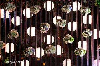 hanging floral balls decor