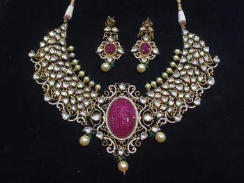 kundan and diamond bridal necklace