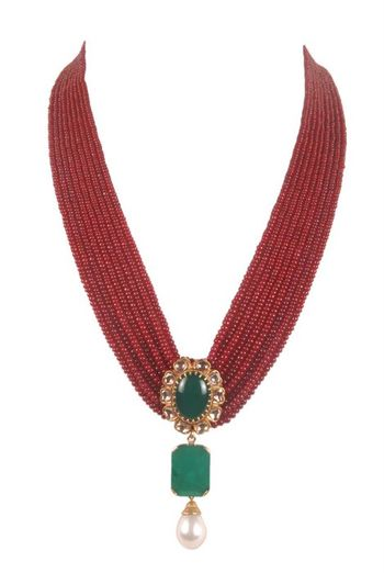 elegant bridal necklace with rubies