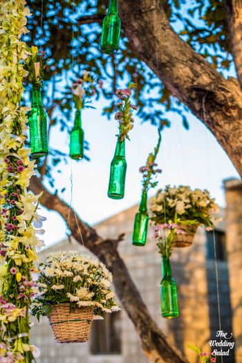 Photo of hanging bottle decor