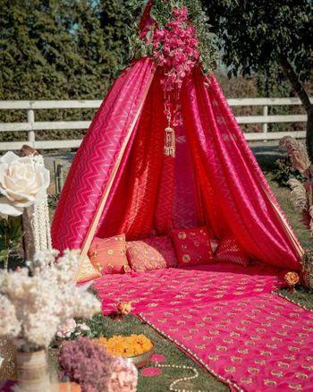 Pretty teepee tent for a mehendi