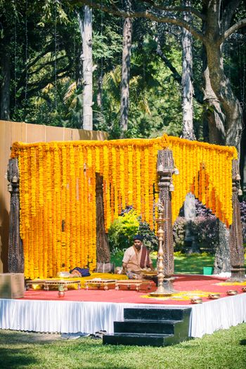 Photo of south indian rustic mandap