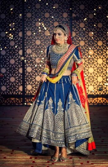 Photo of Sabyasachi blue lehenga