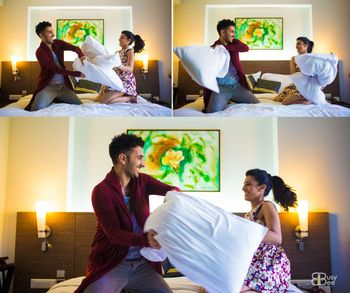 Photo of Pillow fight Pre-wedding shoot