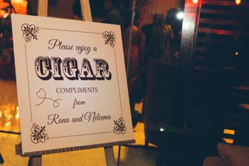 Have a cigar station at the cocktail