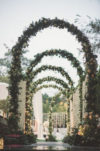 Botanical decor entranceway idea