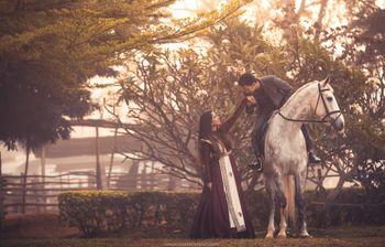 pre-wedding shoot ideas with a horse