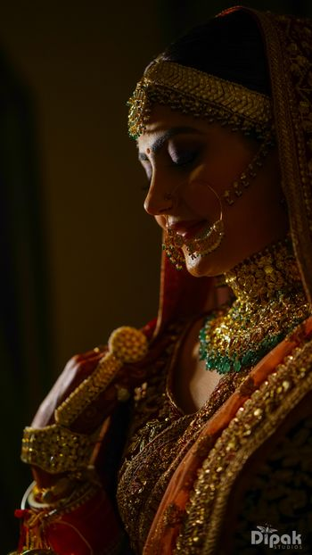 Photo of Imitation bridal mathapatti and choker
