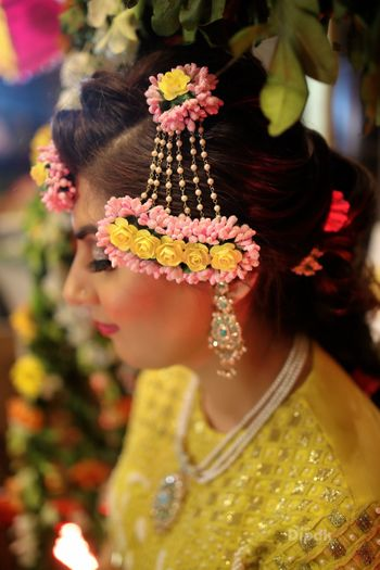Dried floral jewellery jhoomer for mehendi