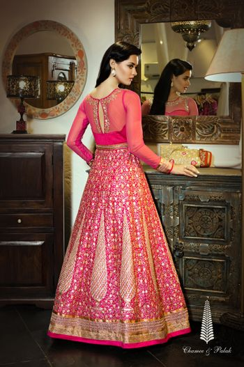 Photo of rani pink lehenga