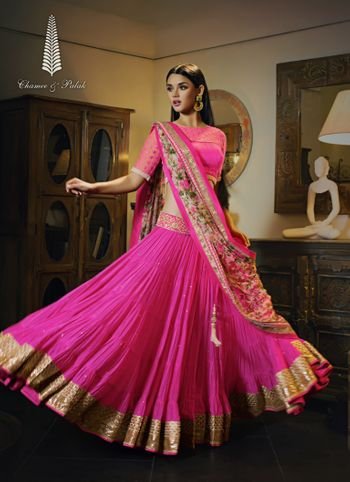 Photo of barbie pink lehenga