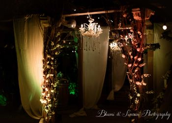 Photo of enchanted forest theme entrance decor