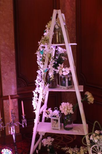 decorated floral staircase