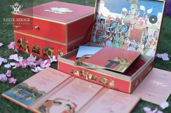 Royal Elephant Theme Wedding Invitation Box