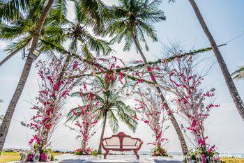 Floral wedding stage decor
