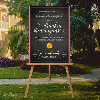 Cute cocktail decor sign with chalkboard effect