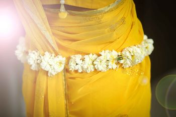 Photo of Floral waistbelt for mehendi