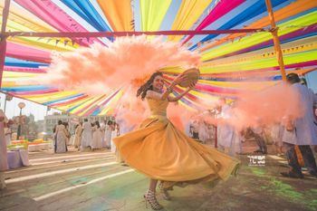 Holi colors at pre-wedding