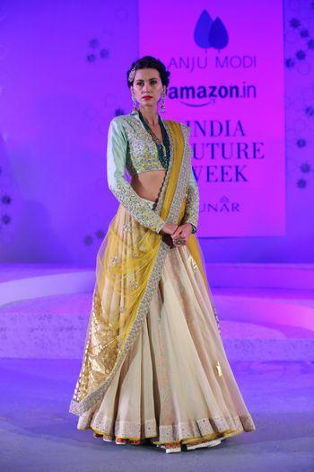anju modi amazon india couture week lehenga bridal collection 2015