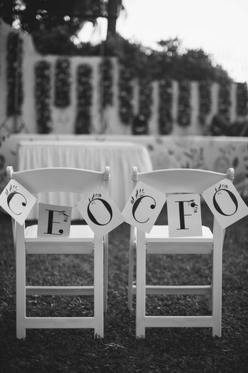 Photo of Personalised bunting idea for chair backs