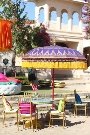 Umbrella decor for mehendi/sangeet