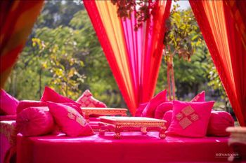 Photo of Bright pink seating arrangement
