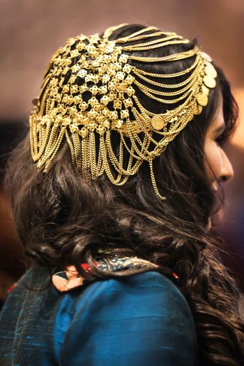 Different and unique hair accessory with chains
