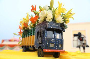 Decorated mini trucks for mehendi
