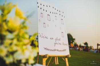 Wedding signage decor