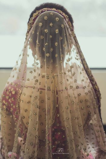 Photo of blush pink dupatta