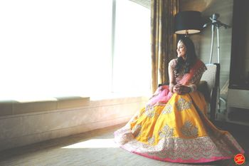 Yellow and pink light pastel lehenga
