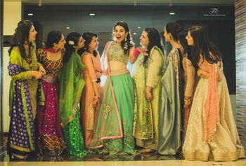 Photo of jade green lehenga