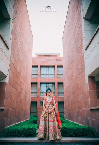 Photo of Candid Bridal Lehenga Shot