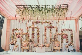 Photo of pastel pink decor