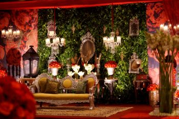 Dark Green Wedding Decor Photo