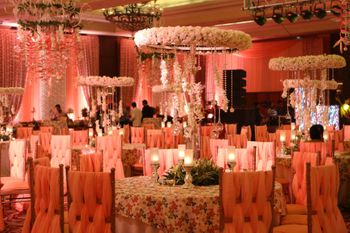 Photo of White and Pink Wedding Decor