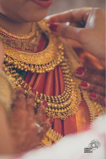 South Indian bridal necklace with ghungroos