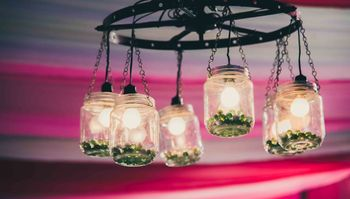 Photo of Chandelier with mason jars