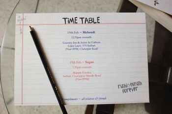 Photo of Time table invitation
