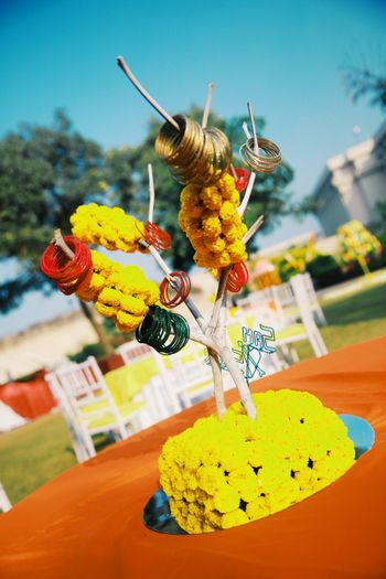 Photo of  Fun Mehendi Table Centerpiece
