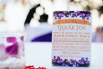 Personalised Thank You note for guests on wedding