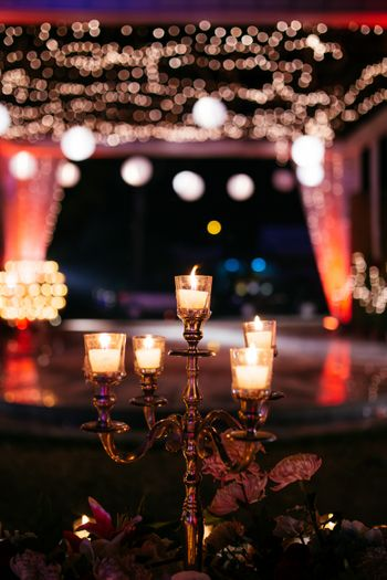 Candle stands centerpieces