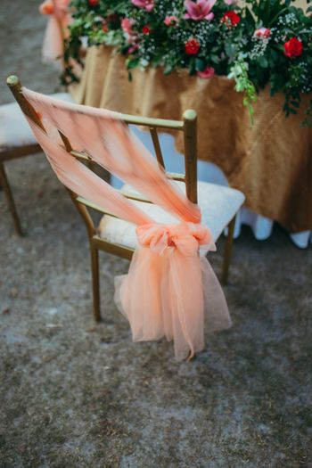 Photo of Chair decor tieback idea in peach