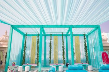 Photo of Mint blue tents for mehendi