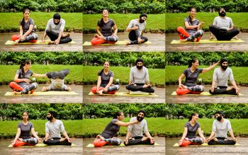 Photo of Yoga theme burst pre wedding shoot photos
